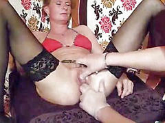Fisting, Squirt, Fist, Squirting, Huge, Wife