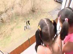 Fanny, Gta, Pigtailed, The fanny, Pigtail, Latina fuck