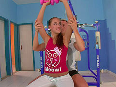 Gym, Hard cock, Victoria sweet, Victoria b, T work, Works hard