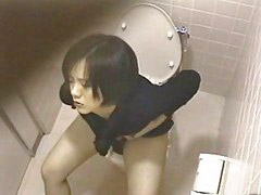 Girl, Asian, Masturbation, Toilet, Masturbating, Masturbate