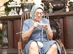 Granny, Hard granny, Hard and hard, Knitting, Knit, Fucking granny