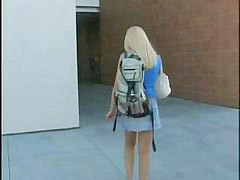 Preparing, Long lồn, Excite, Blonde student, College students, College blonde