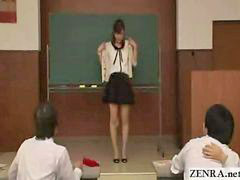 Japanese, Japanese front, In front, Japanese student, Teacher strip, Teachers students