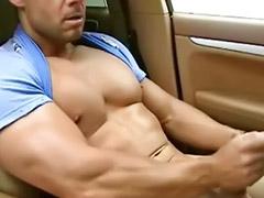 肌肉男h, 肌肉男自慰,, 肌肉男自慰, 肌肉男射, 傑克同性戀, 白人肌肉男