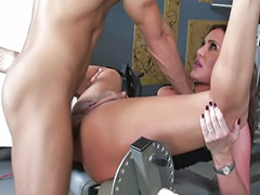 Gym, Big tits brunettes, Blowjob&fucking, Big tit milf, Asian gym, Titty fucking