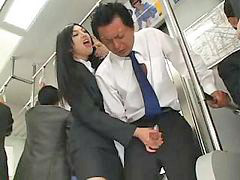 Bus, Asian, Handjob