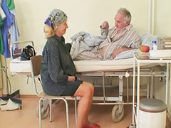 입원, 늙은옛날섹스, 옛날섹스, 병원, 침, 가래침