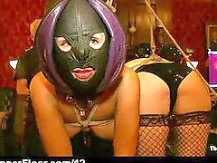 Bound, Masked, Mask, Spanking babe, Masking, Bounded