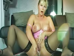 Milf, Squirt, German mature, Milf solo, Mature masturbation, Mature