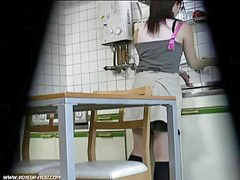 Kitchen, Caught, Masturbation