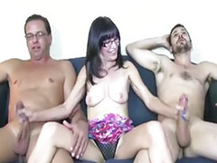 Threesome, Masturbation, Mature, Handjob