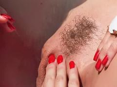 Lesbičky venku, Oholená lízání, Holení lízání, Holení a masturbace, Holení vagíny, Asijsky lesby