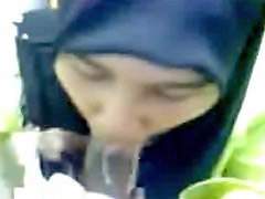 Hijab, Drinks, Drink cum, Cum drink, Sucking cum, Cum suck