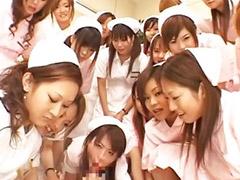 Asian, Gangbang, Nurse, Asian gangbang, Japanese nurse, Top