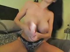 Milf big tits solo, Fuq big tits