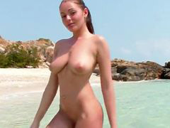 Beach, Big tits, Natural tits, Natural, Girl, Big natural