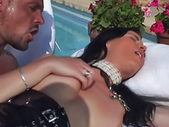 Poolside, Sandy, Pussy job, Asian shaved pussy, Pussy pounded, Pussy pound