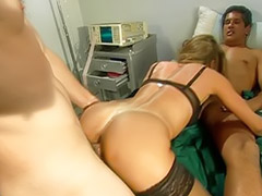 Threesome, Anal, Anal stockings