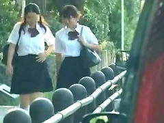 Car, Tricked, Schoolgirls, Schoolgirl