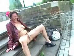 Upskirt, Flashing, Masturbation, Outdoor, Nude, Flash