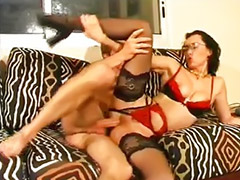 Stockings anal, Betty, French anale, French blowjob, Brunette panty, Panty job