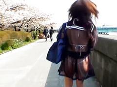 Japanese schoolgirl, Asian, Public, Japanese, Schoolgirl