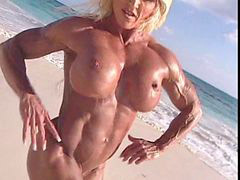 Mature, Beach, Muscle