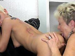 Mature lesbian, Granny, Granny lesbian, Young, Mature, Old and young