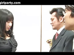 Japanese, Office threesome, Asian office, Japan office, Threesom office, Japanese threesome