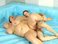 Horny bbw, Naked fight, Ring on, Fight naked, Bbw on bbw, The ring