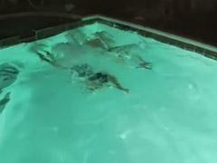 Two in two, The poole, In pool, Have two, Fun girls, Girl fun