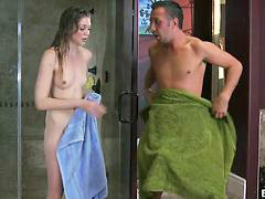 Teen, Shower, Daughter