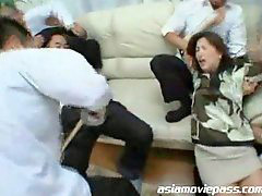 Japanese mom, Japan mom, Japanese, Gang, Gang bang, Moms