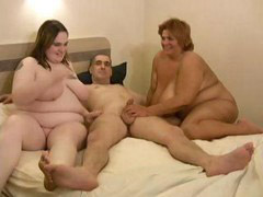 Two in one, Two bbw, Two one cock, Threesome bbw, Three cocks in one, Share cock