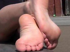 Adolescente spiata, Adolescente piedi, Beccati