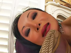 Asian black sex, High heel fuck, Black gag, Asian black, Long hair, Asian tits