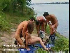 Group, Teen, Outdoor, Russian