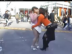 Japanese aval, Japaneses kissing, Japanese lesbi