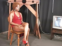 Threesome, Interracial, Bondage, Spanking, Spank, Masturbation