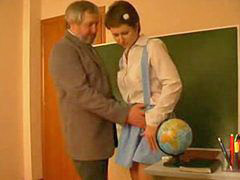 Teacher, French, Schoolgirl, Abused, Abuse