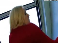 Flashing, Flashing in a train, Boobs flashing, Training sex, Train sex, Train flash