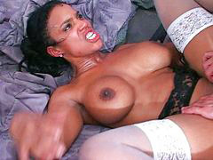 Ebony milf, Stocking white, Ebony pussy, Ebony stockings, White stocking, White milf