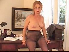 Granny, In air, Hairy granny, Hairy pantyhose, Granny pantyhose, Granny hairy