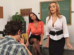 Teacher, Big tits, Seduced