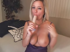 Blondt solo, Big titted riding, Big titted blonde milf