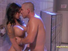 Shower, Babe, Sexy, Shower,, Babes, Nadia