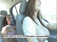Public, Car, Masturbation, Girl