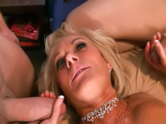 Happy mature fuck, Three guys, New years, Georgette, Year threesome, Two matures