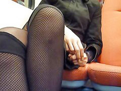 Public, Creampie, Train