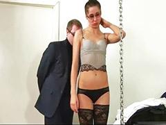 Mädchen wichst junge, Versohlen jung, Sekretärin masturbiert, Mädchen wichst jungen, Masturbation strümpfe, Jung dominierend